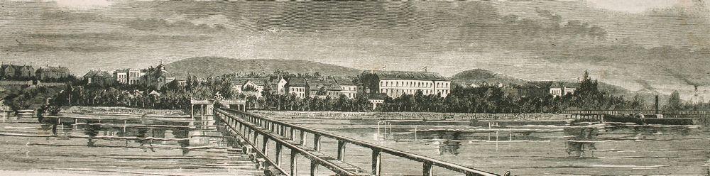 Balatonfüred régi látkép