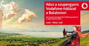 Vodafone balatoni 4G lefedettség reklám