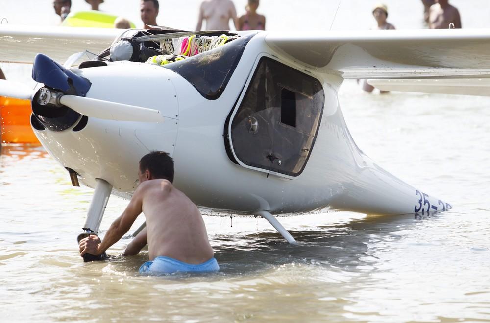 A Balatonba zuhant vitorlázó repülőgép